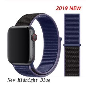 NEW Midnight Blue Sport Loop Strap For Apple Watch